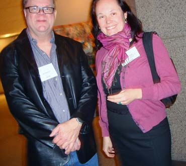 Robin Clark, Curator at the Museum of Centemporary Art San Diego and Joel Sampson
